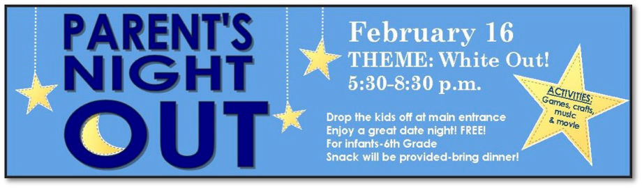FUMC February Parent's Night Out