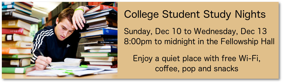 First Church Student Study Nights