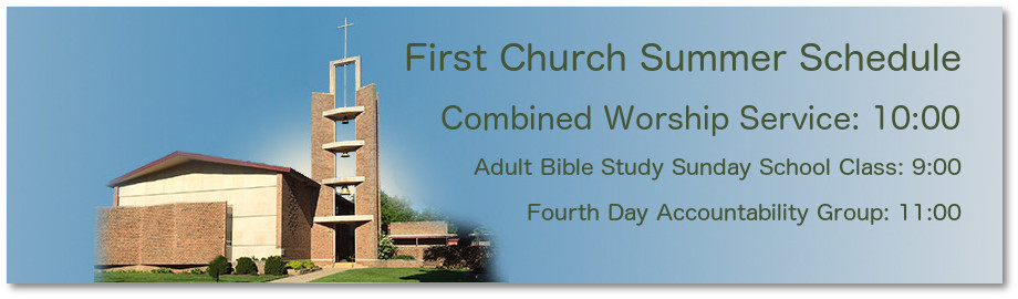 First Church summer schedule